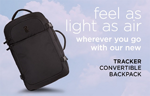 New Arrivals: Tracker Convertible Backpack